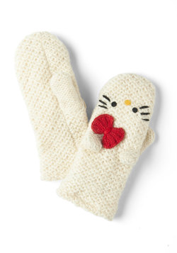 crochet hello for me mittens, modcloth
