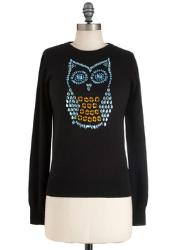hoot and owl sweater, modcloth