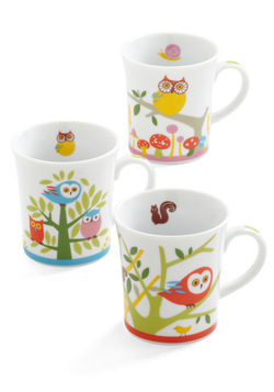 Owl together again mug set, modcloth