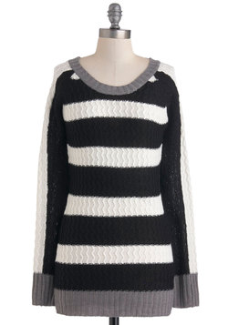 parallel lines sweater, modcloth