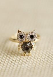 precious owl ring, ruche