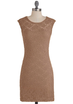ruby blooms dress in taupe, modcloth