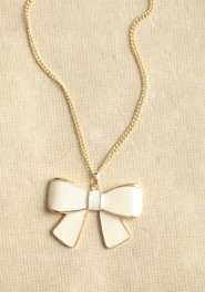 mademoiselle bow necklace, ruche