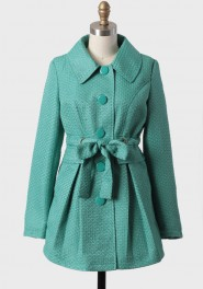 misty jade coat by Tulle