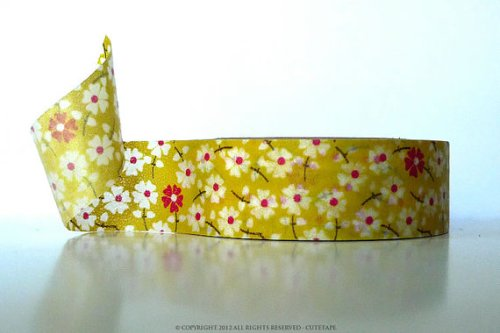 tape yellow floral
