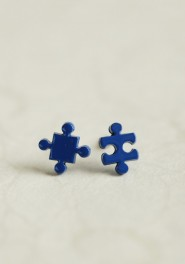 puzzle earrings, ruche