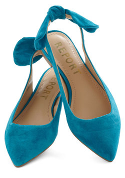 a bright to see flat in aqua, modcloth