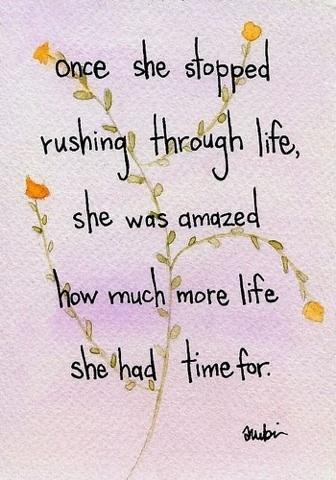 stopped rushing