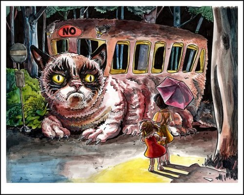 grumpy catbus