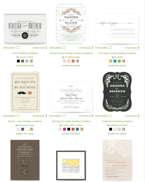 invitation options