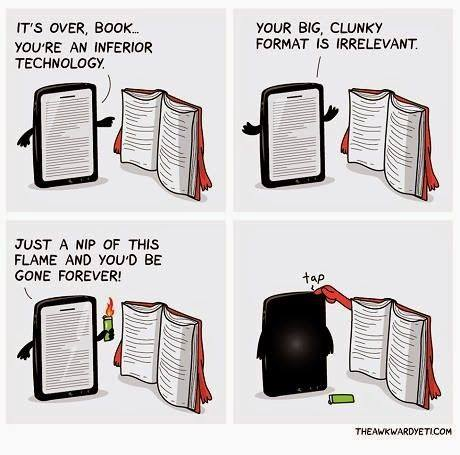 Image result for book vs. ereader