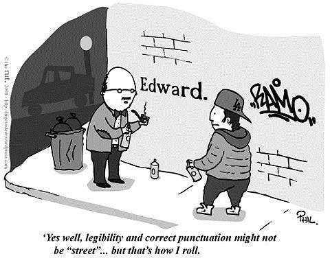 legibility and proper punctuation