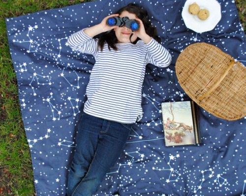 picnic blanket, SewnNatural etsy